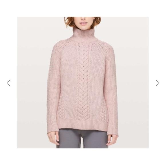 Lululemon Pink Mock neck Sweater